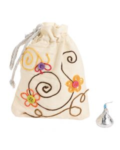 DIY Mini Drawstring Bags - 48 pcs.