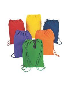 DIY Small Colorful Canvas Drawstring Backpacks