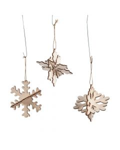 DIY Unfinished Wood Snowflake Ornaments