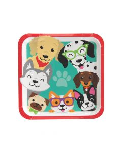 Dog Party Dinner Paper Plates