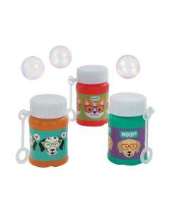 Dog Party Mini Bubble Bottles