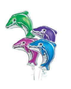 Dolphin-Shaped Mylar Balloons Assortment