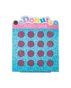 Donut Party 16-hole Prize Punch Game