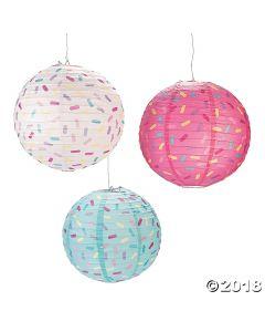 Donut Party Hanging Paper Lanterns