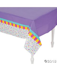 Donut Party Plastic Tablecloth