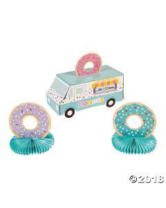 Donut Party Truck Centerpiece Set