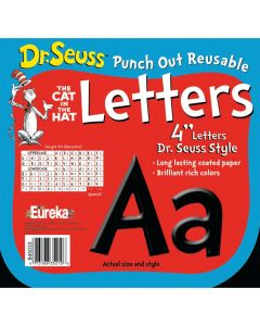 Dr. Seuss Black Bulletin Board Letters and Numbers