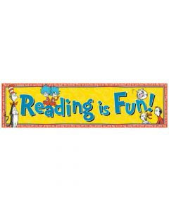 Dr. Seuss Reading is Fun Banner