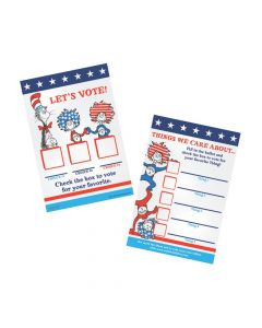 Dr. Seuss™ The Cat In The Hat™ For President Ballot Cards