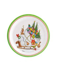 Dr. Seuss The Grinch Paper Dinner Plates