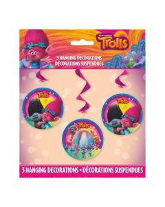 DreamWorks Trolls World Tour Hanging Swirl Decorations - 3 Pc.