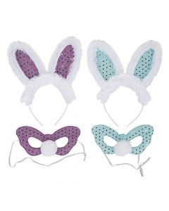 Easter Bunny Ears and Mask Sets