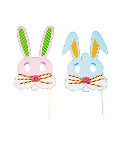 Easter Bunny Mask Photo Stick Prop Craft Kit