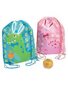 Easter Dino Drawstring Bags