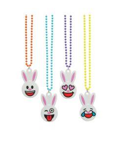 Easter Emoji Beaded Necklaces