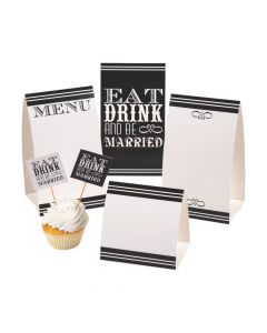 Eat, Drink and Be Married Buffet Decor Kit