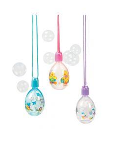 Egg-shaped Bubble Bottle Necklaces