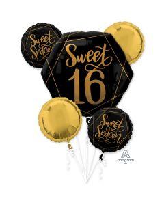 Elegant Sixteen Balloon Bouquet