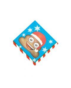 Emoji Christmas Beverage Napkins