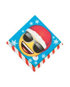 Emoji Christmas Luncheon Napkins