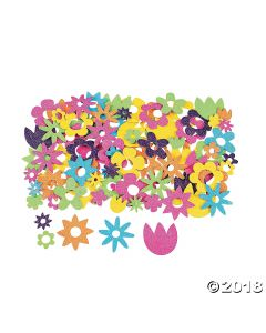 Fabulous Self-adhesive Flower Glitter Shapes