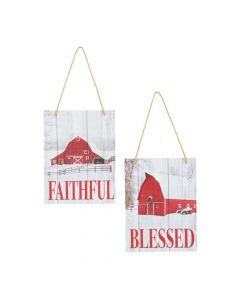 Faithful and Blessed Barn Ornaments
