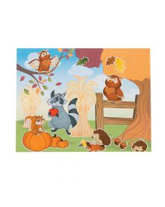 Fall Woodland Owl Sticker Scenes
