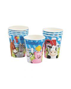 Farm 1st Birthday Paper Cups