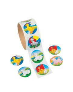 Farm Animal Sticker Rolls