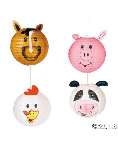 Farm Party Hanging Paper Lanterns