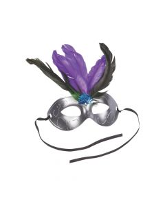 Feathered Masquerade Masks