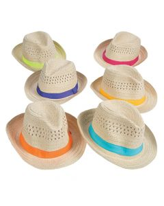 Fedoras with Colorful Band