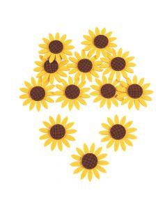 Felt Sunflower Embellishments