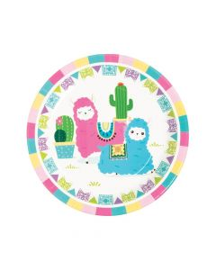 Fiesta Baby Cactus Paper Dinner Plates