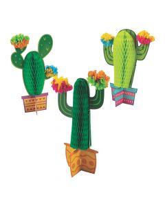 Fiesta Flower Cactus Honeycomb Table Decorations