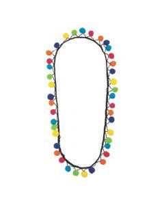 Fiesta Mini Pom-Pom Necklaces