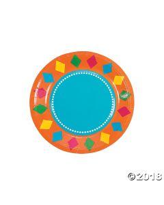 Fiesta Party Paper Dessert Plates