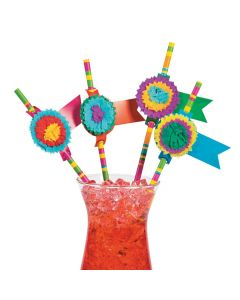 Fiesta Party Paper Straws