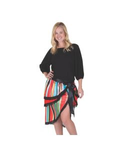 Fiesta Ruffle Tie-On Skirt