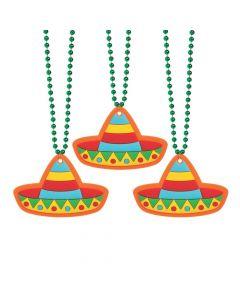 Fiesta Sombrero Jumbo Charm Beaded Necklaces