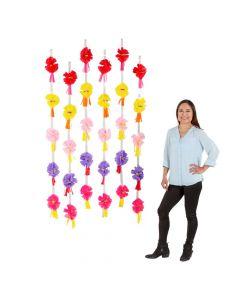 Fiesta Tissue Paper Flower Backdrop