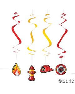 Firefighter Party Hanging Swirls