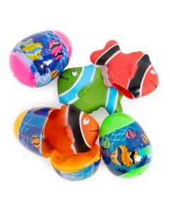 Fish Finger Puppet-Filled Easter Eggs