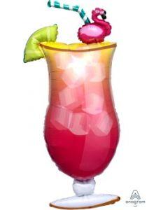 Flamingle Tropical Drink Super Shape Balloon