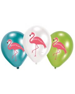 Flamingo Paradise Latex Balloons