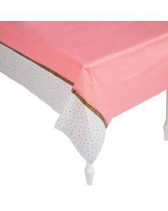 Floral Plaid Bridal Shower Plastic Tablecloth