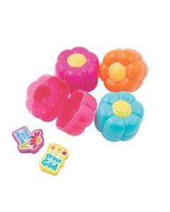 Flower Eraser-Filled Easter Eggs - 12 Pc.