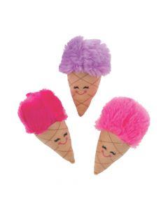Fluffy Plush Ice Cream Cones
