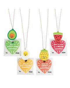 Food Necklaces with Valentine's Day Cards