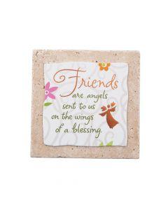 Friends Are Angels Sentiment Tile